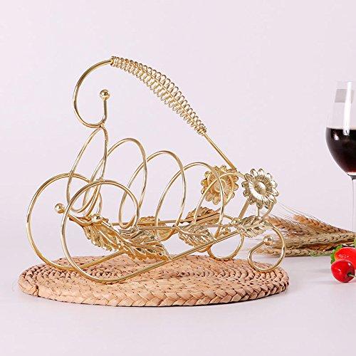HZH Kreative Weinregal Dekoration Weinglas Halter Europäischen Wein Mode Büro Weinschrank Dekorationen Ornamente ( Color : Gold ) (Büro-möbel Modulare)