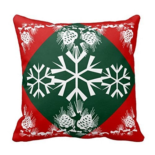 Gary S.Shop Christmas snowflake Home Decor Pillow Case 18 x 18 Inch