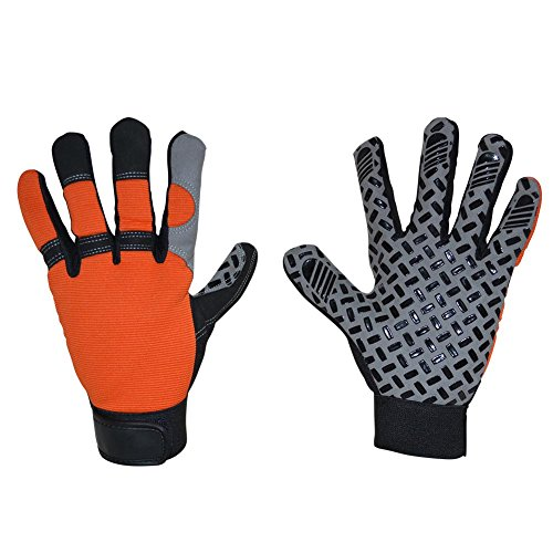 Arbeitshandschuhe Schutzhandschuhe Montagehandschuhe Griphandschuhe Gartenhandschuhe Mechaniker-Handschuhe für Reparaturen Feinarbeiten Automobilindustrie Autoservice Werkstatt, 1 Paar