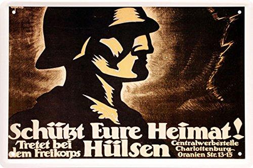 Schützt Eure Heimat Blechschild 20 x 30 cm Retro Blech 88