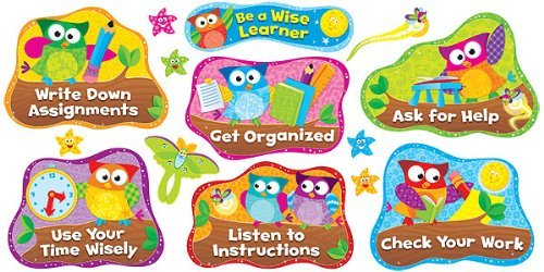 Owl-Stars!TM Study Habits Bulletin Board Set by Trend Enterprises Inc
