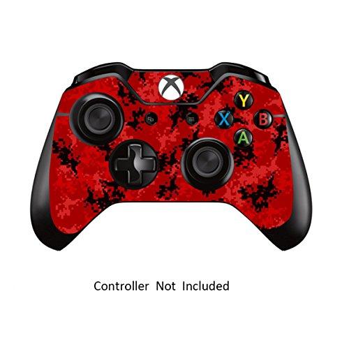 Designfolie Sticker - Vinyl Aufkleber Schutzfolie Skin für Xbox One Controller Digicamo Red ()