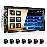 XOMAX XM-2D6907 Autoradio mit Mirrorlink für Android I kapazitiver 6,9' / 17,5 cm Touchscreen Bildschirm I DVD, CD, USB, SD, AUX I Bluetooth Freisprecheinrichtung I 2 DIN