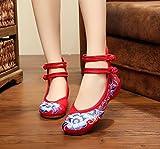 WHH Soft bas chaussures brodées, semelle de tendon, style ethnique, femaleshoes, mode, confortable, casual chaussures de toile