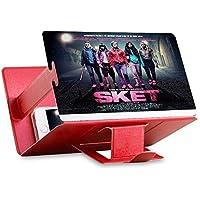 Universal tragbarer Falten Smartphone 3D Screen Magnifier für alle Smartphone Arten. Smartphone Bildschirm Vergrößerungslupe mit 3D Effekt. Rot/Hot Red ⭐️⭐️⭐️⭐️⭐️