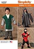 Simplicity 1037Größe A Jungen leicht zu nähen, Kostüme Schnittmuster, Mehrfarbig