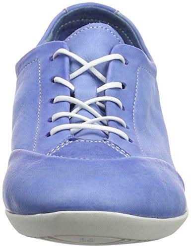 Softinos Damen Ops421sof Washed Oxfords Blau (Lavender Blue)