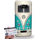 Case88 [Samsung Galaxy S8 Plus / S8+] 3D impresa Carcasa/Funda dura para & Tarjeta de garantía - Art Fashion Cyan Retro Bus Mini Van 1201