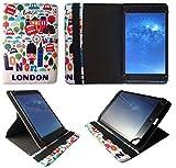 Kobo Arc 7 HD 7' 8' Tablet Città di Londra Universale 360 Gradi di Rotazione Custodia con Portacarte ( 7 - 8 Pollici ) by Sweet Tech