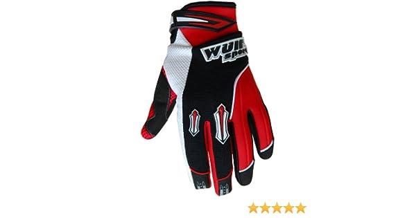 Medium 9cm, Red Wulfsport Motocross MX Stratos Adult Gloves