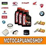 Kit de revisión y cambio de aceite para motocicletas Yamaha T-MAX 500 formado por
