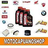 Kit de revisión y cambio de aceite para motocicletas Yamaha T-MAX 500 formado por: aceite 7100, filtros y bujías 2004, 2005, 2006 y 2007