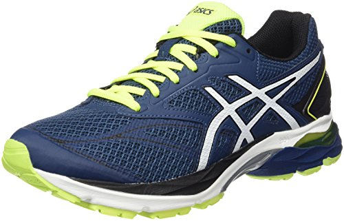 Asics Gel-Pluse 8, Scarpe Running Uomo, Multicolore (Poseidon/White/Safety Yellow), 43.5 EU