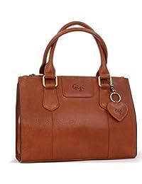 Gigi Mid-Size Tote Bag - Leather Giovanna 9046 Tan