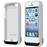 Noza Tec 4200Mah External Detachable Power Bank Charger Pack Backup Battery Case for iPhone 5 5S 5C (White)