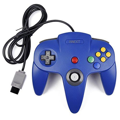 Preisvergleich Produktbild iNNEXT Retro 64 N64 Controller,Kabelgebundener Gamepad Controller Joystick für N64 Konsole N64 System,Blau