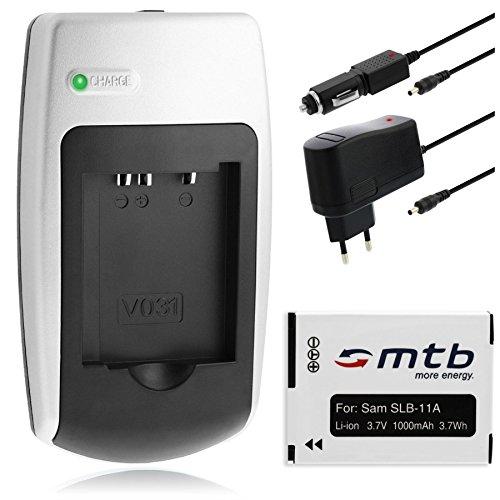 Chargeur + Batterie SLB-11A pour Samsung CL.. / EX.. / HZ.. / ST.. / WB.. +autres (voir description)