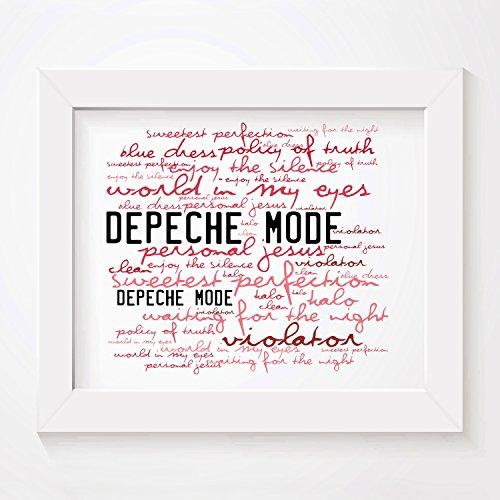 Depeche mode - violator - firmato e numerato edizione limitata tipografia muro arte stampa testo della canzone poster