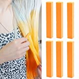Crazy Kristen Stewart Orange Hair Color | Neon Orange Hair Dye | Orange Temporary Vibrant Hair Color | With Shades Of Orange Set Of 6 Vibrant Hair Col