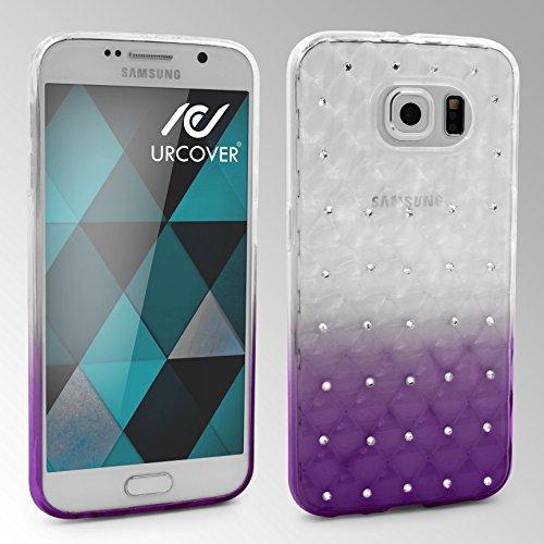 Urcover® Diamond 3D Gradient Softcase | Apple iPhone 6 Plus / 6s Plus | TPU Klar | Trendy Zubehör Tasche Case Handy-Cover Schutz-Hülle Schale Violett