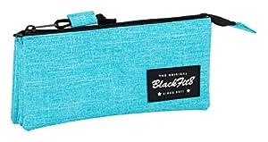 Blackfit8-Blackfit Blackfit8-Estuche portatodo Triple, 841733744, Color Azul Claro, 22 cm (SAFTA