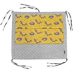 Cuna de bebé Que cuelga la Bolsa de Almacenamiento con 9 Bolsillos Cuna de bebé Juguete Organizador de pañales Cuna recién Nacido Ropa de Cama Buggy Bag Baby Room Decor(Zorro)