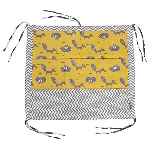 Zerodis Babybett Tasche Hängende Aufbewahrungstasche mit 9 Taschen Windel Spielzeug Kleidung Betttasche Kinderwagen Buggy Dekor Mehrfunktional(#2)