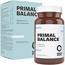 Vitamin B Komplex hochdosiert vegan | PRIMAL BALANCE | alle acht B-Vitamine | Bioaktiv & mit Co-Faktoren | B1, B2, B3, B5, B6, B12, D-Biotin & Folat | Premium | 120 Kapseln (2-Monatspackung)