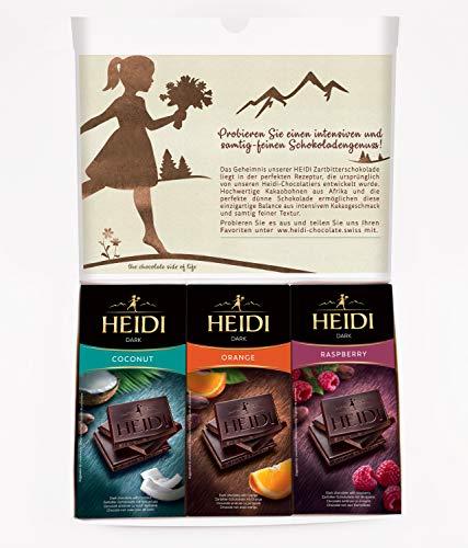 6x Dunkle Schokoladentafeln von Heidi I 6 einzigartige Geschmacksrichtungen in einer schönen Geschenkbox I Zartbitter-Schokolade für Genießer I Perfektes Geschenk für Schokoladenfans I 6x80g Tafeln