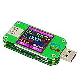 KKmoon USB 2.0 LCD-Farb-Anzeige-Tester【Spannungs-/Strommessgerät, Voltmeter, Amperemeter, Batterieladekabel-Impedanz-Messer, Kommunikations-Version】