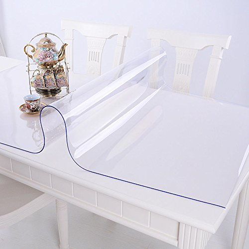 Ertex Tischdecke Tischfolie Schutzfolie Tischschutz Folie Transparent 2,5 mm 1A Qualität geeignet für den Kontakt mit Lebensmitteln ( 90 x 160 cm )