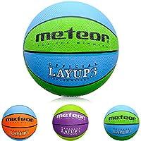 meteor Balón Baloncesto Talla 3 Pelota Basketball Bebe Ball Infantil Niño Balon Basquet - Baloncesto Ideal para los niños y jouvenes para Entrenar y Jugar - Tamaño 3 Layup (#3, Azul/Verde)