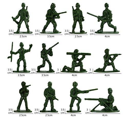 12 Soldados Juguete de la Segundo Guerra Mundial con el Paquete de US Uk Bandera de 300
