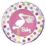 Unique Party Supplies 45,7cm Folie Storch Mädchen Baby Dusche Helium Ballon