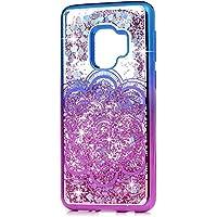 Carcasa para Samsung Galaxy S9, chapada a prueba de golpes, flotante, carcasa líquida brillante con purpurina, diseño de corazón, suave, transparente, flexible, parachoques de gel TPU, antiarañazos, funda protectora para Samsung Galaxy S9, Totem