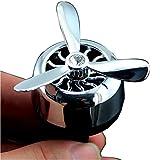 AIR FORCE 3 Profumatore Deodorante per Auto Ricaricabile Diffusore di Profumo Automatico Senza Alcool. Adatto perAromaterapia, Rimuove Fumo e Odori Ottima idea regalo (argento)