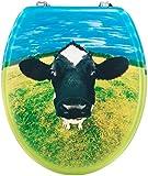 Cornat WC-Sitz Dekor MUH KUH / Toilettensitz / Toilettendeckel / Klodeckel / WC-Deckel / Holzkern (MDF) / KSD529