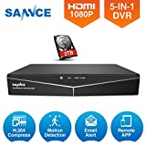 Best Hd Dvrs - SANNCE 16CH 1080N CCTV 4-in-1 DVR Recorder, 2TB Review