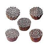 Royal Kraft Beliebt Designs Runden und Mandala Blöcke Drucken Holz Stempel (Set von 5)