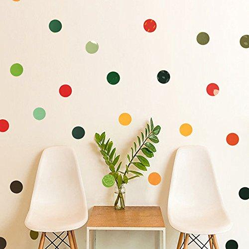 Etiquetas engomadas coloridas del punto, etiqueta engomada desprendible del punto, etiquetas de la pared del círculo, puntos de la decoración del arte del vinilo para la decoración de la habitación de