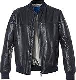 Joop! Herren Lederjacke Alltagsjacke Uni & Uninah, Größe: XL, Farbe: Blau