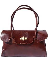 Florence Leather Market Sac à main et à èpaule en cuir avec deux lanières 6544