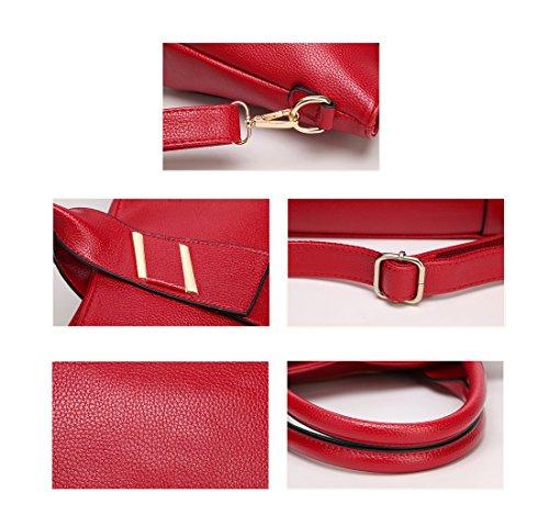 Auspicious beginning Pelle Borse Tote singoli sacchetti di spalla Crossbody per le donne Giallo
