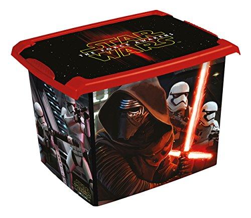Preisvergleich Produktbild keeeper Star Wars Aufbewahrungsbox mit Deckel, 39 x 29 x 27 cm, 20,5 l, Filip, Schwarz