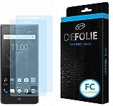 Crocfol Bildschirmschutz für BlackBerry Motion: 2X DIEFOLIE Schutzfolie, 1x DASFLÜSSIGGLAS flüssiges Glas - Fullcover Folie zur Nutzung ohne Schutzhülle