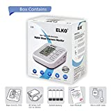 ELKO EL-510 Fully Automatic Upper Arm Digital Blood Pressure Monitor Machine (Grey/White)
