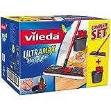 Vileda - 137431 - Ultra Max complète : Set Balai à Plat + Seau-Essoreur