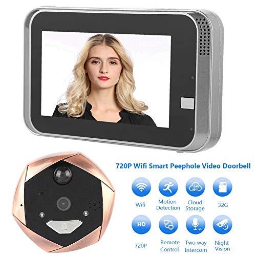 Digitaler Türspion,4.3 Zoll HD LCD WiFi Smart Digital Türspion mit IR Nachtsicht/PIR-Bewegungserkennung,Kamera Video Türklingel Türspion Sicherheitskamera mit APP für 35-90mm Türstärken