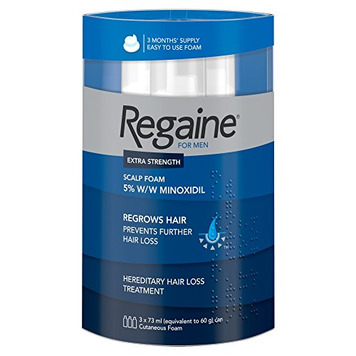 Regaine For Men Hair Regrowth Foam 3x 73 ml – Three Months Supply