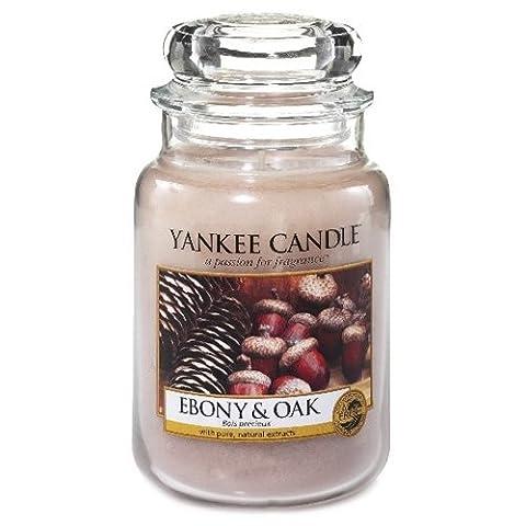 Yankee Candle 1519667E Ebony and Oak Kerze, Glas, sand, 9,8 x 9,8 x 17,5 cm